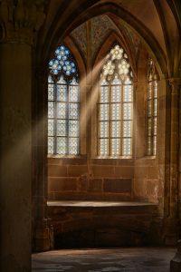 church window, monastery, window
